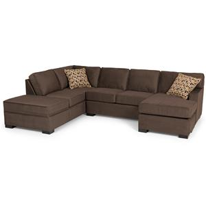 Contemporary Two Piece Sectional Sofa with LAF Chaise