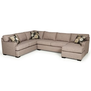 Contemporary Three Piece Sectional Sofa with Chaise