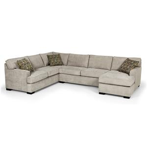 Contemporary Four Piece Sectional Sofa w/ LAF Chaise