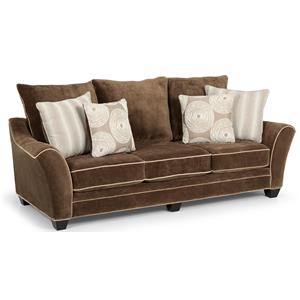 Contemporary Scattered-Back Sofa