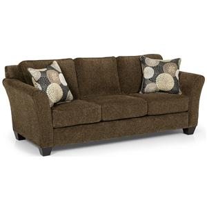 Contemporary Basic Sleeper Sofa with Flared Arms
