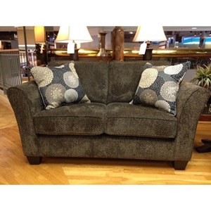 Contemporary Twin Gel Sleeper Loveseat with Flared Arms