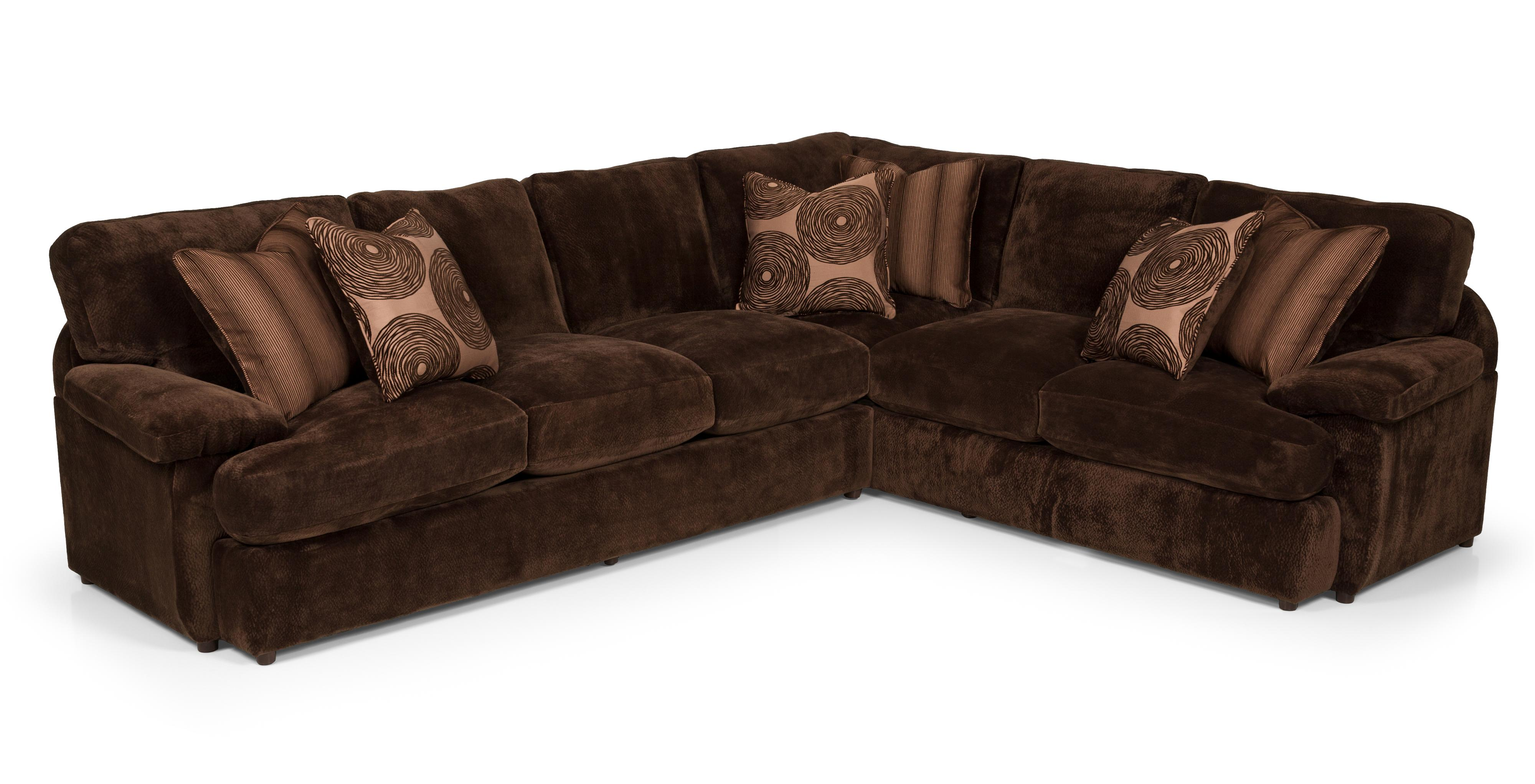 186 2 Pc Sectional Sofa w/ LAF Loveseat by Stanton at Wilson's Furniture