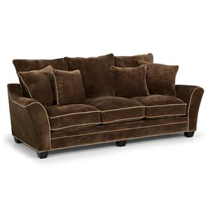 Contemporary Scattered-Back Sofa with Contrasting Welt Trim