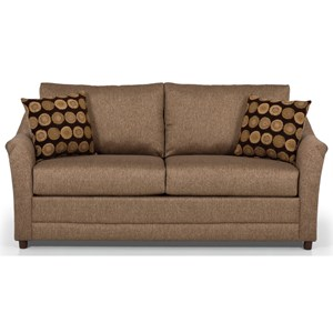 Casual Sofa with Flare Tapered Arms