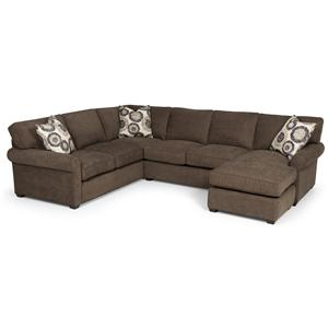 Transitional 2 Piece Sectional Sofa with Chaise