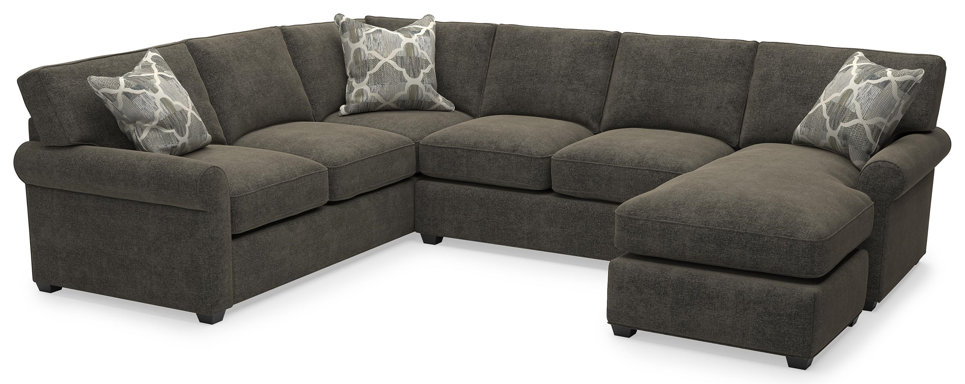 225 Asa Transitional 2 Piece Sectional w/Chaise by Sunset Home at Walker's Furniture
