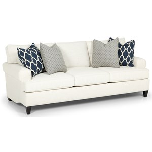 Casual Sofa with Custom Fabric Options and Lifetime Warranty