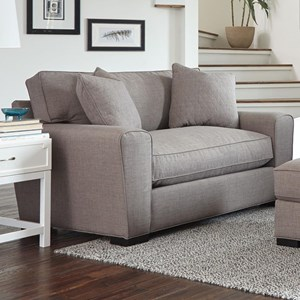 Casual Double Chair with Loose Pillow Back