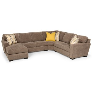 Casual 4-Piece Sectional with Left-Facing Chaise