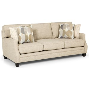 Casual Sofa with Tapered Wooden Feet