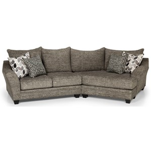 Casual Sectional Sofa with Cuddler