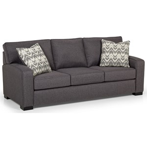 Contemporary Sofa with Arching Track Arms