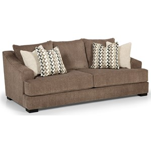 Casual Sofa with Sloped Track Arms