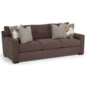 Sofa with Track Arms and Toss Pillows