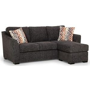 Casual Sofa Chaise with Reversible Storage Chaise