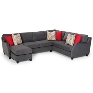 Casual 3-Piece Sectional with Left-Facing Chaise