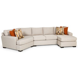 Contemporary Sectional Gel Sleeper Sofa with Cuddler Section
