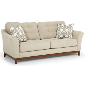Traditional Sofa with Tufted Backs and Seats