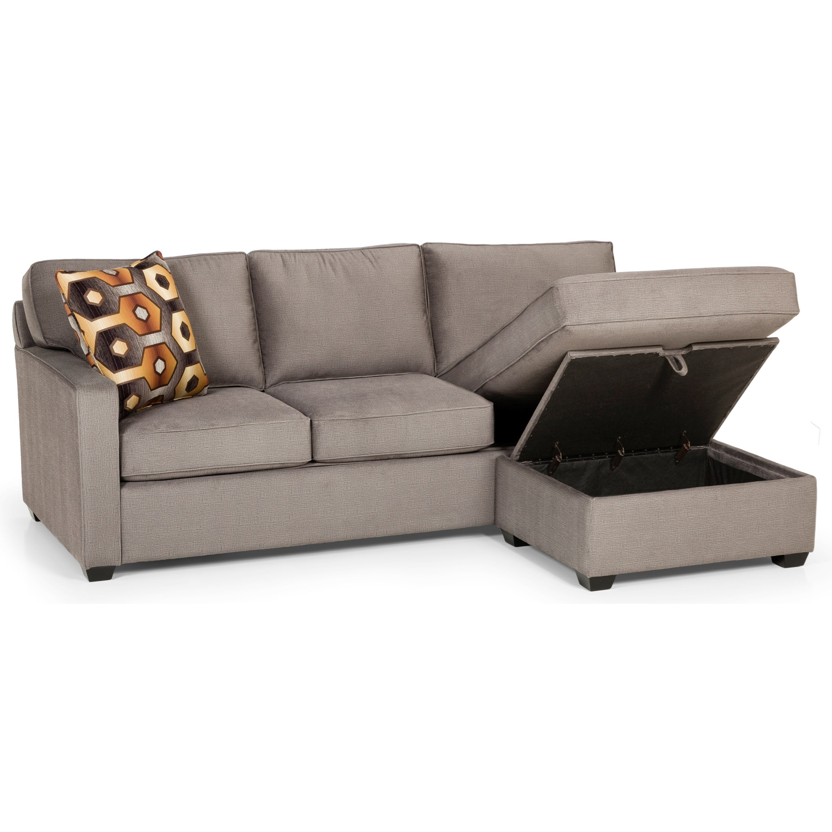 403 Sofa Chaise Queen Gel Sleeper by Stanton at Wilson's Furniture
