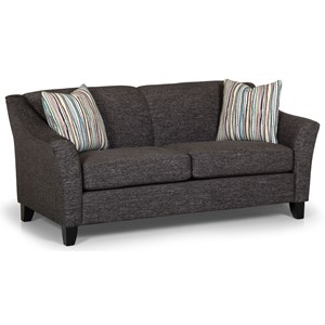 Contemporary Loft Sofa with Exposed Wood Legs