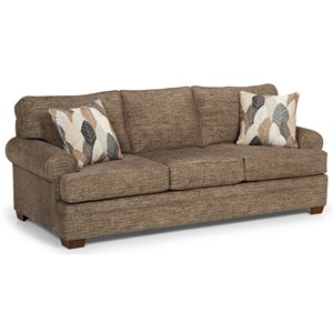 Casual Sofa with Wide Rolled Arms