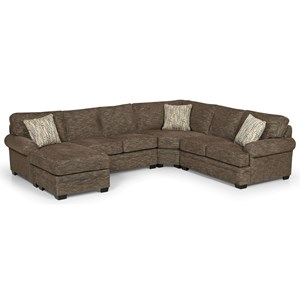 Casual 5 Seat Sectional Sofa with LAF Chaise Lounge