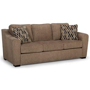 Casual Sleeper Sofa with Gel Mattress