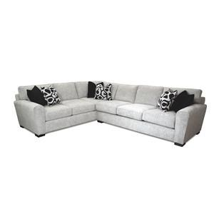 Two Piece Sectional in Gracious Ivory