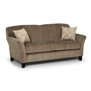 Contemporary Loft Sofa with Reverse Camel Back