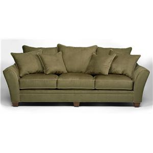 Transitional Sofa with Scatter Pillow Back