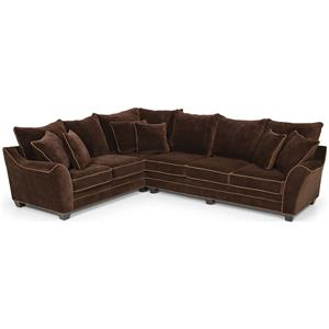Sectional Sofa w/ Pillow Back