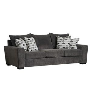Contemporary 103 Inch Sofa with Deep Seats