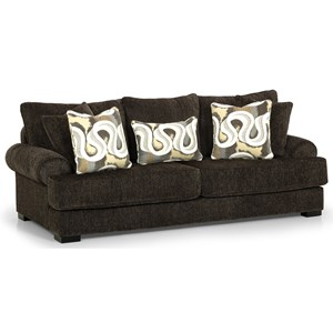 Transitional 100 Inch Sofa