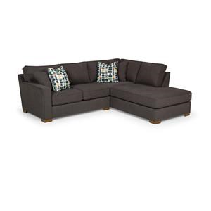 Two Piece Sectional in Peyton Pepper