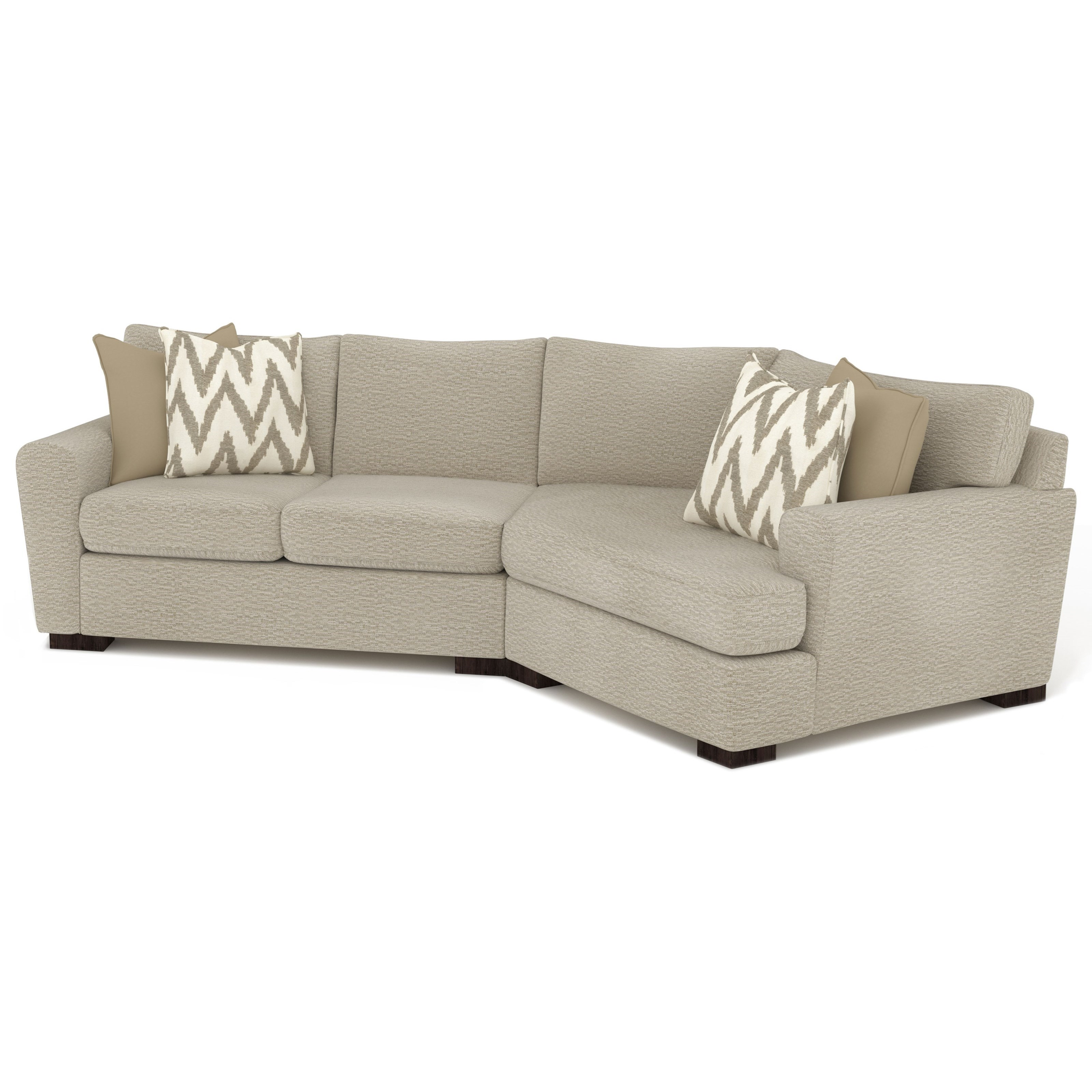 Ava 3-Seat Sectional Sofa w/ RAF Cuddler by Sunset Home at Walker's Furniture