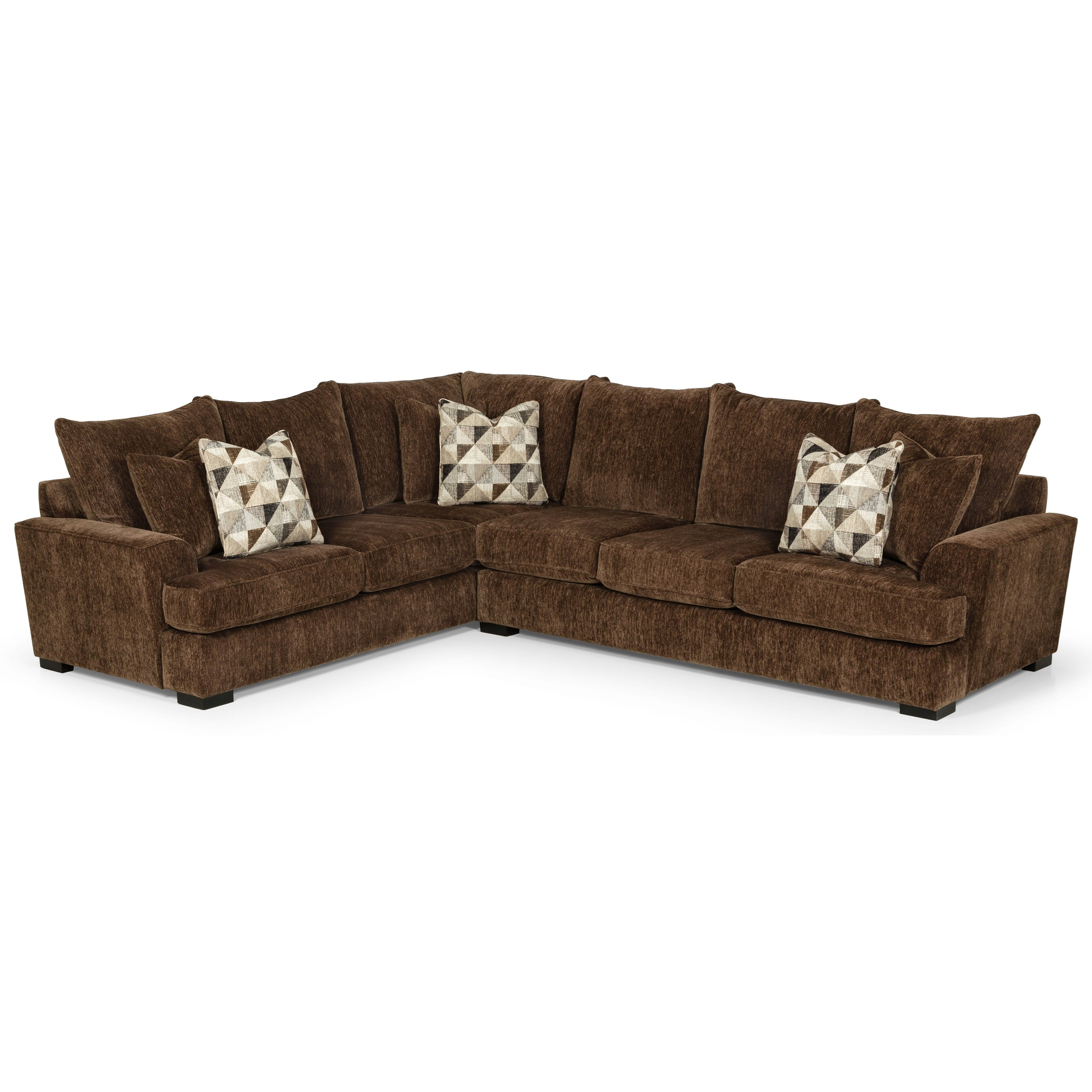 515 5-Seat Sectional Sofa w/ RAF Sofa by Stanton at Wilson's Furniture