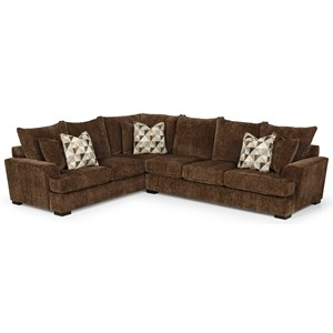 Casual 5-Seat Sectional Sofa with RAF Sofa