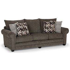 Casual Sofa with Pillow-Style Back Cushions