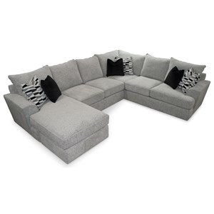 Contemporary 5-Seat Sectional Sofa with LAF Chaise Lounge