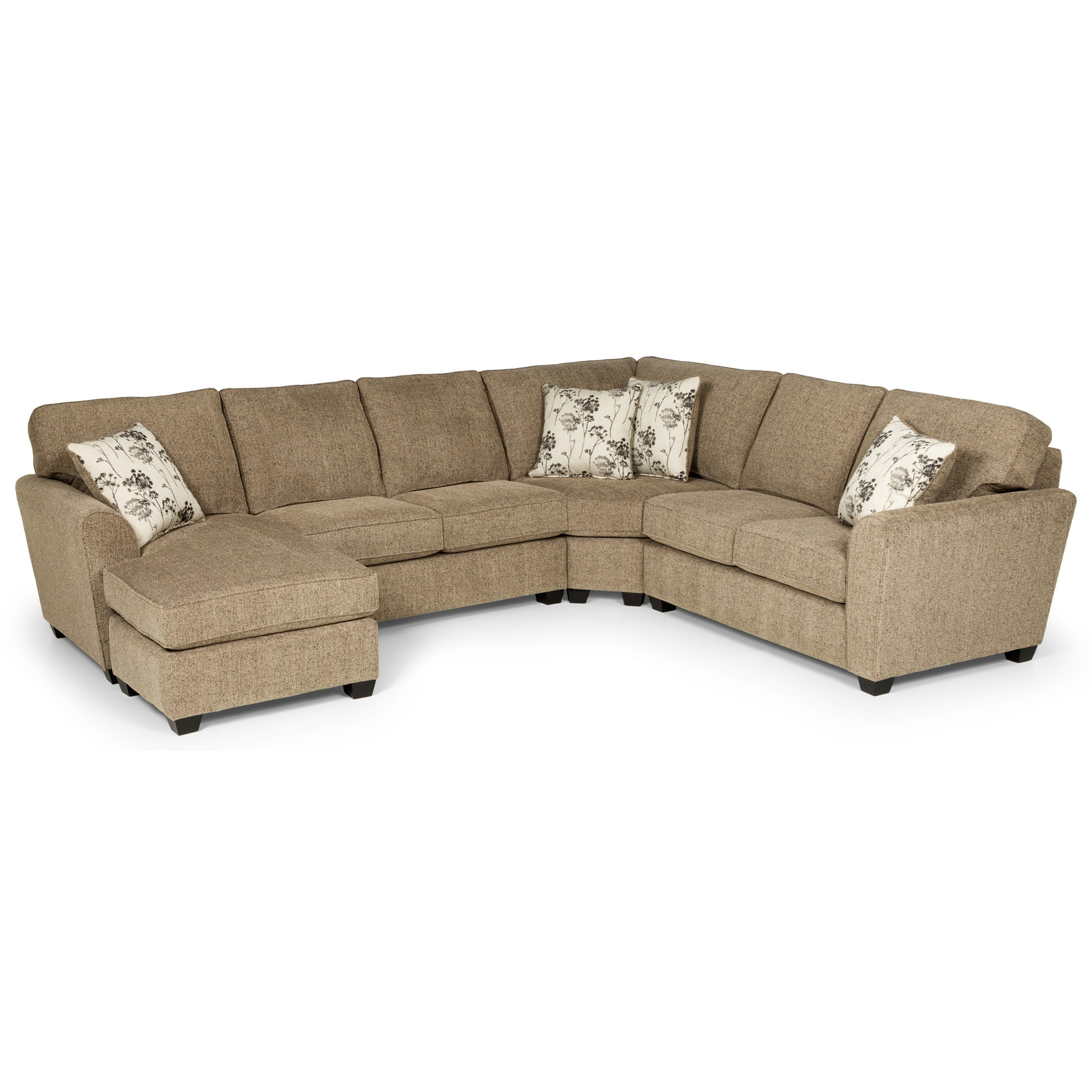 543 5-Seat Sectional Sofa w/ RAF Basic Sleeper by Stanton at Wilson's Furniture