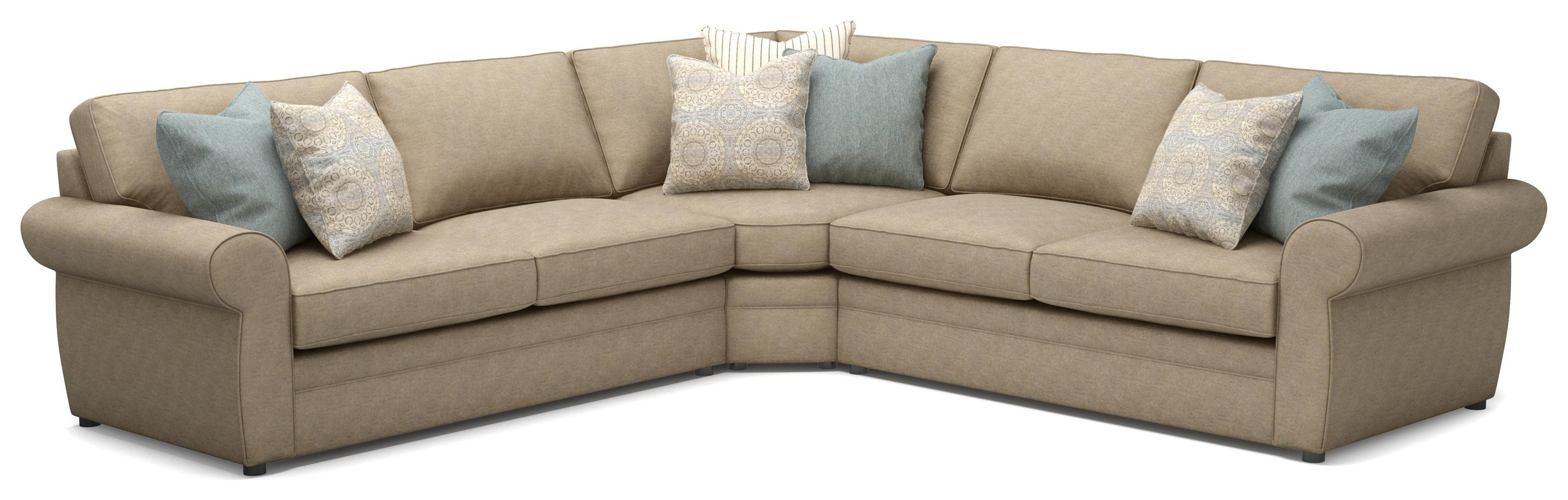 554 PAIGE 3 PIECE SECTIONAL by Sunset Home at Walker's Furniture