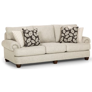 Traditional Sofa with Nailhead Detail