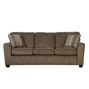 Casual Queen Gel Sleeper Sofa with Rounded Flair Arms