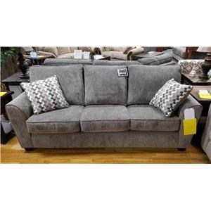 Casual Standard Sofa with Rounded Flair Arms