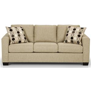 Contemorary Sofa with 2 Accent Pillows