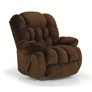 Casual Biscuit Padded Glider Recliner