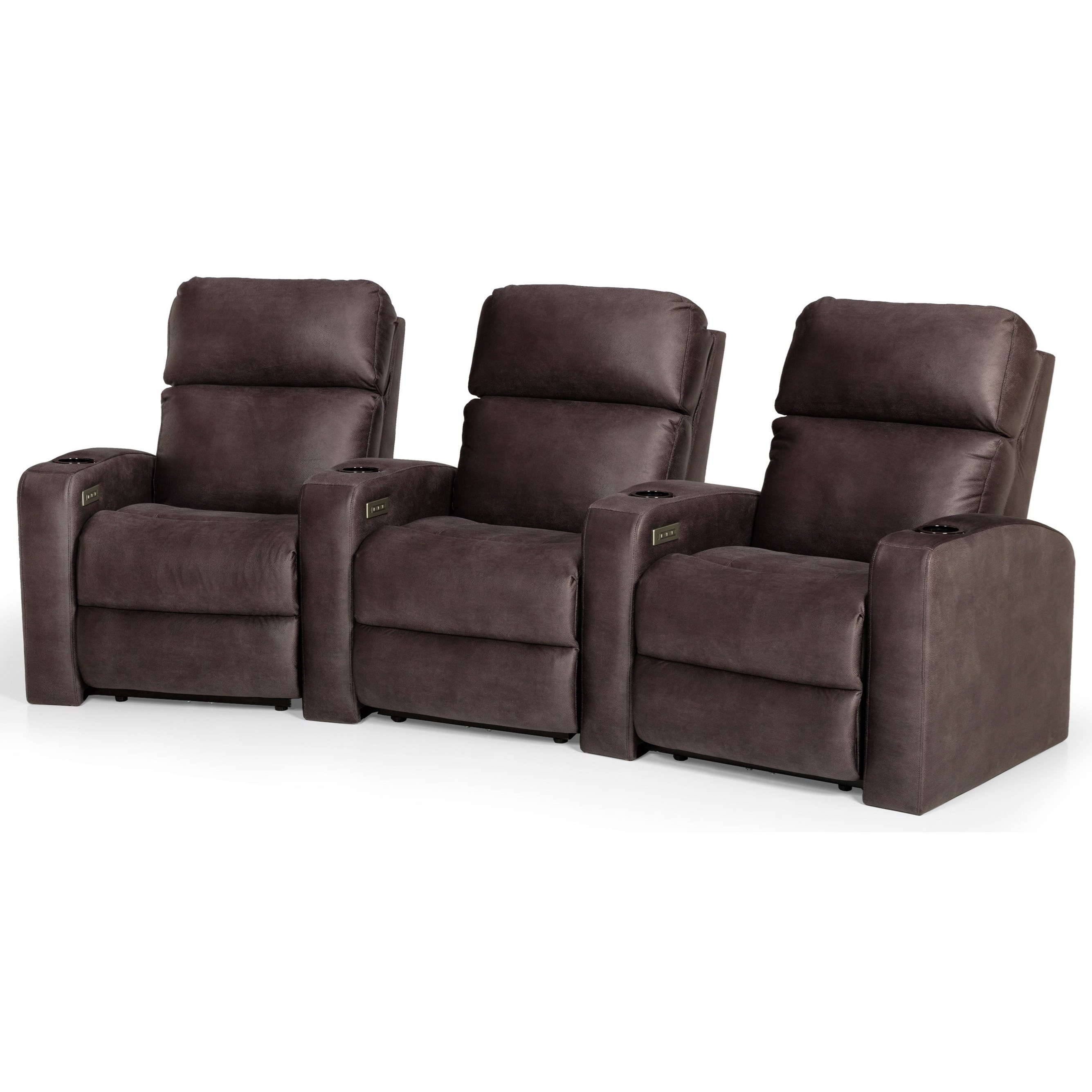 850 3-Seat Power Reclining Home Theater Group by Stanton at Wilson's Furniture