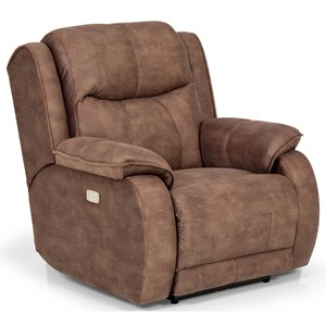 Casual Recliner with Full Chaise Cushion