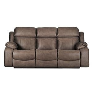 Casual Dual Reclining Power Sofa with Power Head/Lumbar and USB Ports